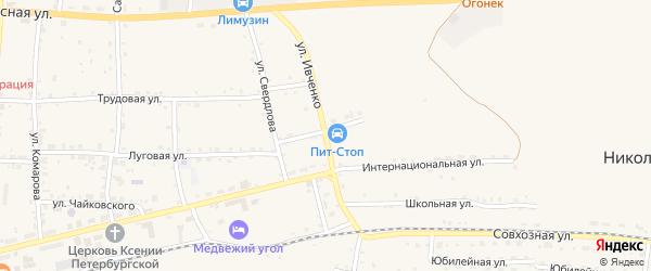 Улица Ивченко на карте села Николаевки с номерами домов