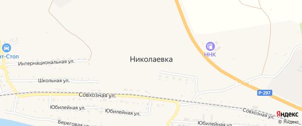 Интернациональный переулок на карте села Николаевки с номерами домов