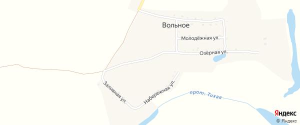 Озерная улица на карте Вольного села с номерами домов
