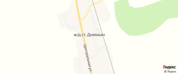Лесная улица на карте села Домикана с номерами домов