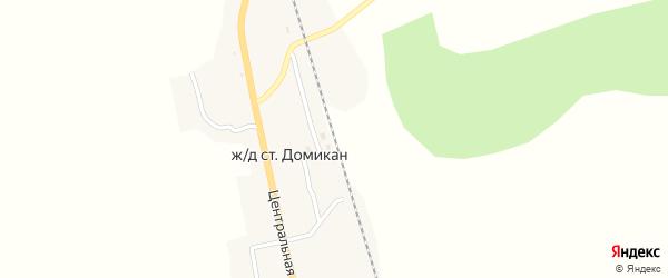 Железнодорожный переулок на карте железнодорожной станции Домикана с номерами домов