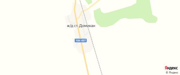 Карта железнодорожной станции Домикана в Амурской области с улицами и номерами домов