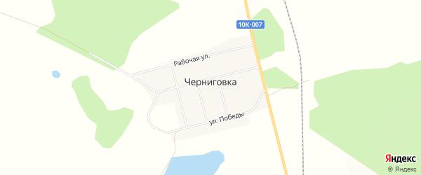Карта села Черниговки в Амурской области с улицами и номерами домов