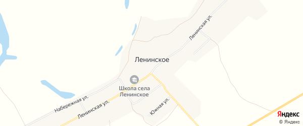Карта Ленинского села в Амурской области с улицами и номерами домов