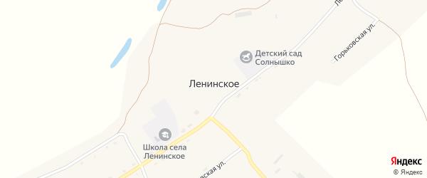 Центральная улица на карте Ленинского села с номерами домов