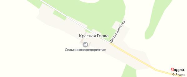 Центральная улица на карте села Красной Горки с номерами домов