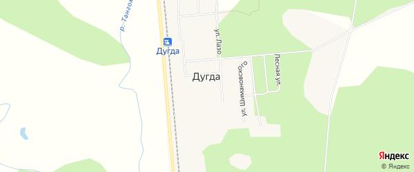 Карта поселка Дугды в Амурской области с улицами и номерами домов