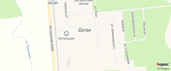 Лесная улица на карте поселка Дугды с номерами домов