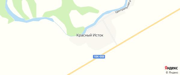 Карта села Красного Истока в Амурской области с улицами и номерами домов