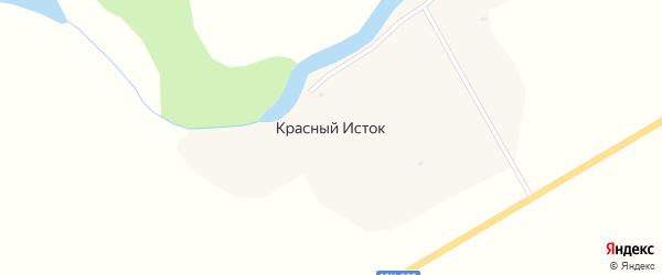 Озерная улица на карте села Красного Истока с номерами домов