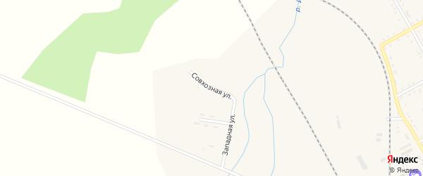 Совхозная улица на карте поселка Архары с номерами домов