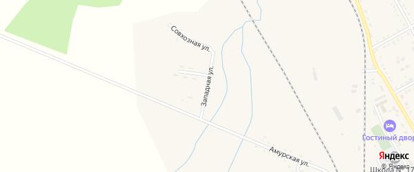 Западная улица на карте поселка Архары с номерами домов