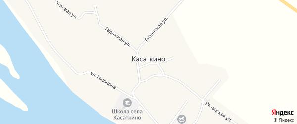 Центральная улица на карте села Касаткино с номерами домов