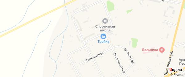 Больничная улица на карте поселка Архары с номерами домов