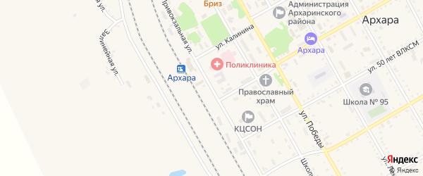 Привокзальная улица на карте поселка Архары с номерами домов