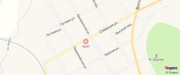 Северная улица на карте поселка Архары с номерами домов