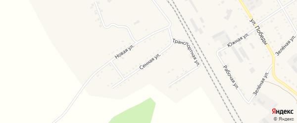 Сенная улица на карте поселка Архары с номерами домов