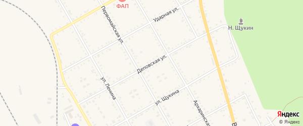 Деповская улица на карте поселка Архары с номерами домов