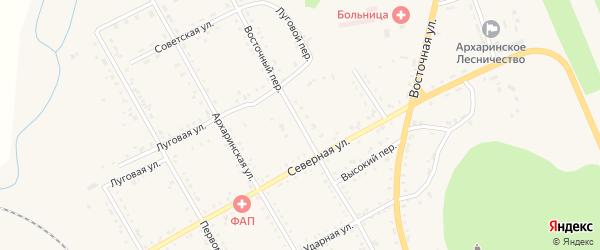 Восточный переулок на карте поселка Архары с номерами домов