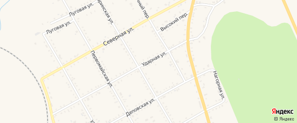 Ударная улица на карте поселка Архары с номерами домов