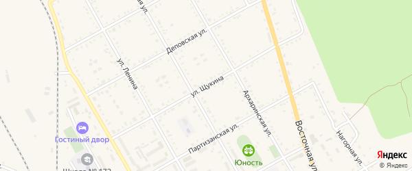 Улица Щукина на карте поселка Архары с номерами домов