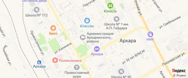 Улица Ленина на карте поселка Архары с номерами домов