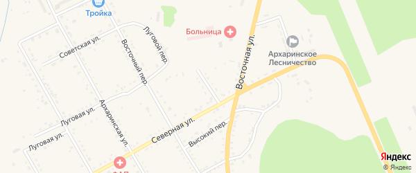 Трудовой переулок на карте поселка Архары с номерами домов