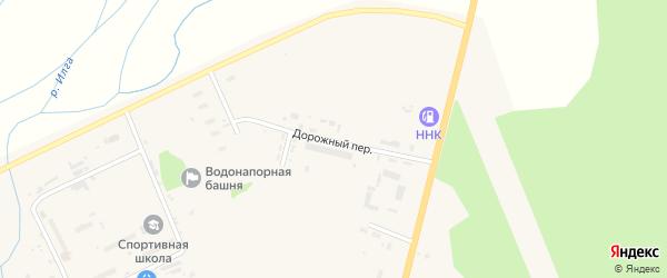 Дорожный переулок на карте поселка Архары с номерами домов
