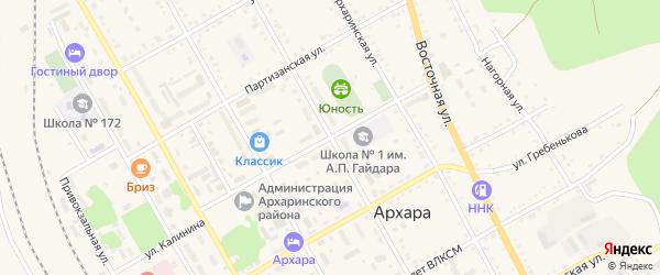 Первомайская улица на карте поселка Архары с номерами домов