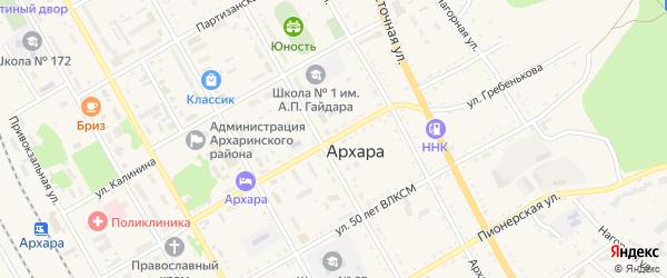 Улица Гребенькова на карте поселка Архары с номерами домов