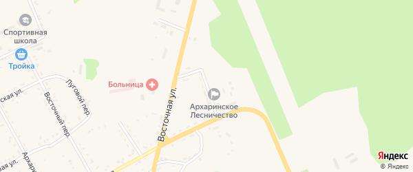 Лесная улица на карте поселка Архары с номерами домов