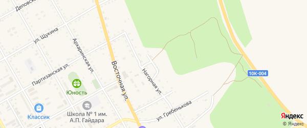 Нагорный переулок на карте поселка Архары с номерами домов