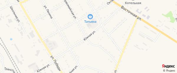 Южная улица на карте поселка Архары с номерами домов