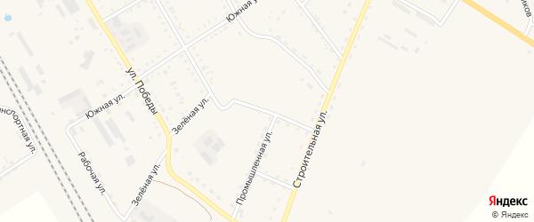Строительный переулок на карте поселка Архары с номерами домов