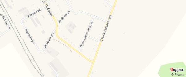 Промышленный переулок на карте поселка Архары с номерами домов