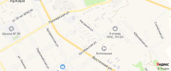 Красноармейский переулок на карте поселка Архары с номерами домов
