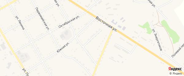 Архаринский переулок на карте поселка Архары с номерами домов