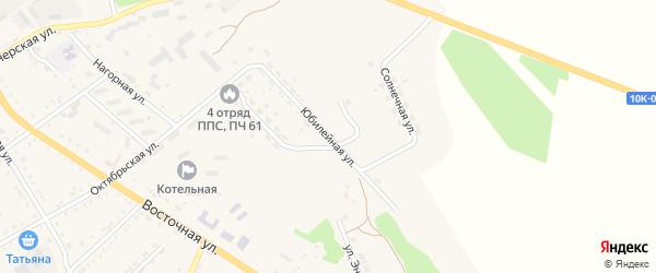 Юбилейная улица на карте поселка Архары с номерами домов