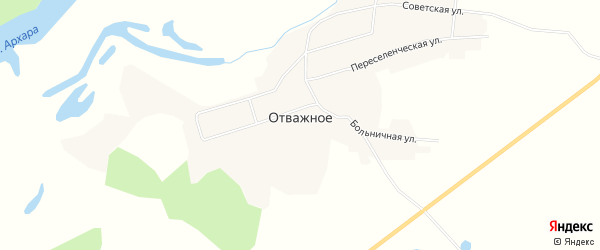 Карта Отважного села в Амурской области с улицами и номерами домов