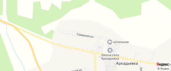 Северная улица на карте села Аркадьевки с номерами домов