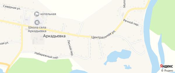Центральная улица на карте железнодорожной станции Есауловки с номерами домов