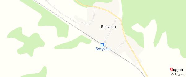 Карта станции Богучана в Амурской области с улицами и номерами домов
