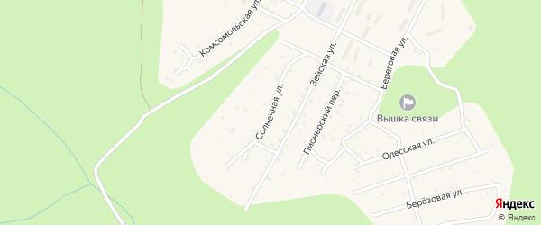 Солнечная улица на карте поселка Талакана с номерами домов