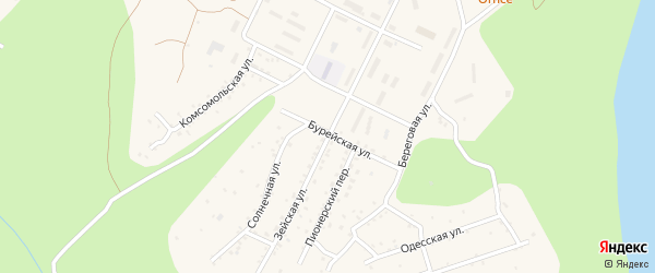 Зейская улица на карте поселка Талакана с номерами домов