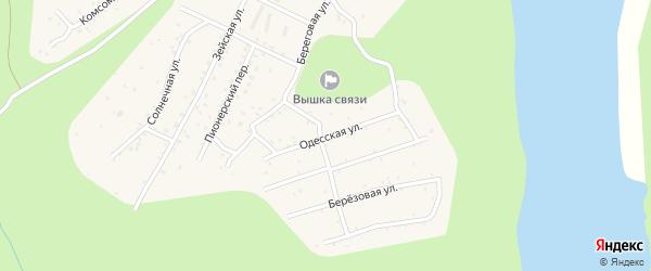 Одесская улица на карте поселка Талакана с номерами домов