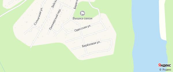 Улица Гидростроителей на карте поселка Талакана с номерами домов