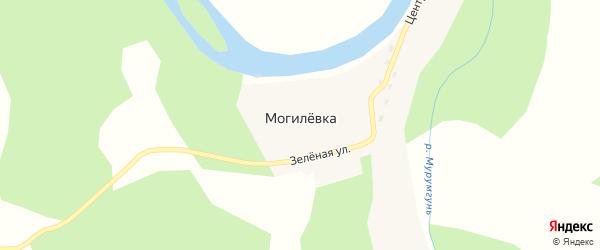 Зеленая улица на карте села Могилевки с номерами домов