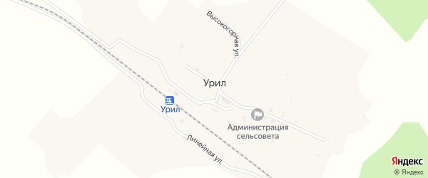 Лесная улица на карте села Урила с номерами домов