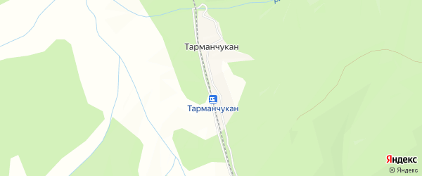 Карта разъезда Тарманчукана в Амурской области с улицами и номерами домов