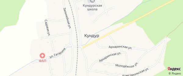 Лесной переулок на карте села Кундура с номерами домов